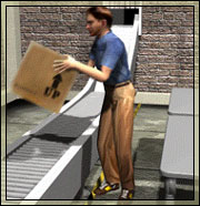 Man lifting up box